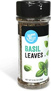 Amazon Brand - Happy Belly Basil Leaves, 0.95 Ounces
