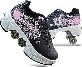 Modway 2 in 1 rolschaatsen - Outdoor sportschoenen - Quad Skate Sneaker Design Ideaal voor beginners veilig en comfortabel...