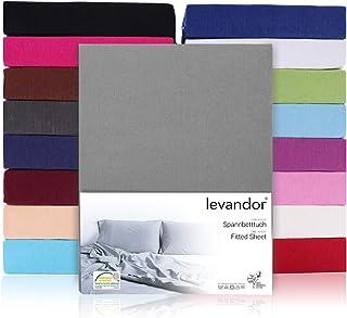 Drap-housse 100 % coton jersey - Disponible dans de nombreuses couleurs et tailles - Certifié Öko-Tex Standard 100 (60 x 1...
