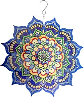 Uddiee 3D Wind Spinner, Hanging Metal Mandala Wind Spinners Outdoor Garden Decoration Yard Décor Ornaments (Renewed)