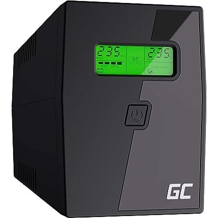 Green Cell® UPS Onduleur 600VA (360W) 230V Alimentation d'énergie Non interruptible Line-Interactive AVR Alimentation sans Interruption pour Ordinateur USB/RJ11 2X Schuko Prises Affichage LCD