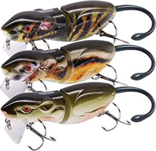 "TRUSCEND Fishing Lures 4~16"" Heavy-Duty Metal Multi Jointed Swimbaits Saltwater Freshwater Bionic Swimming Lures for Bass Catfish Pike Muskie Large Fish Fishing Segmented Lure Kit Lifelike"