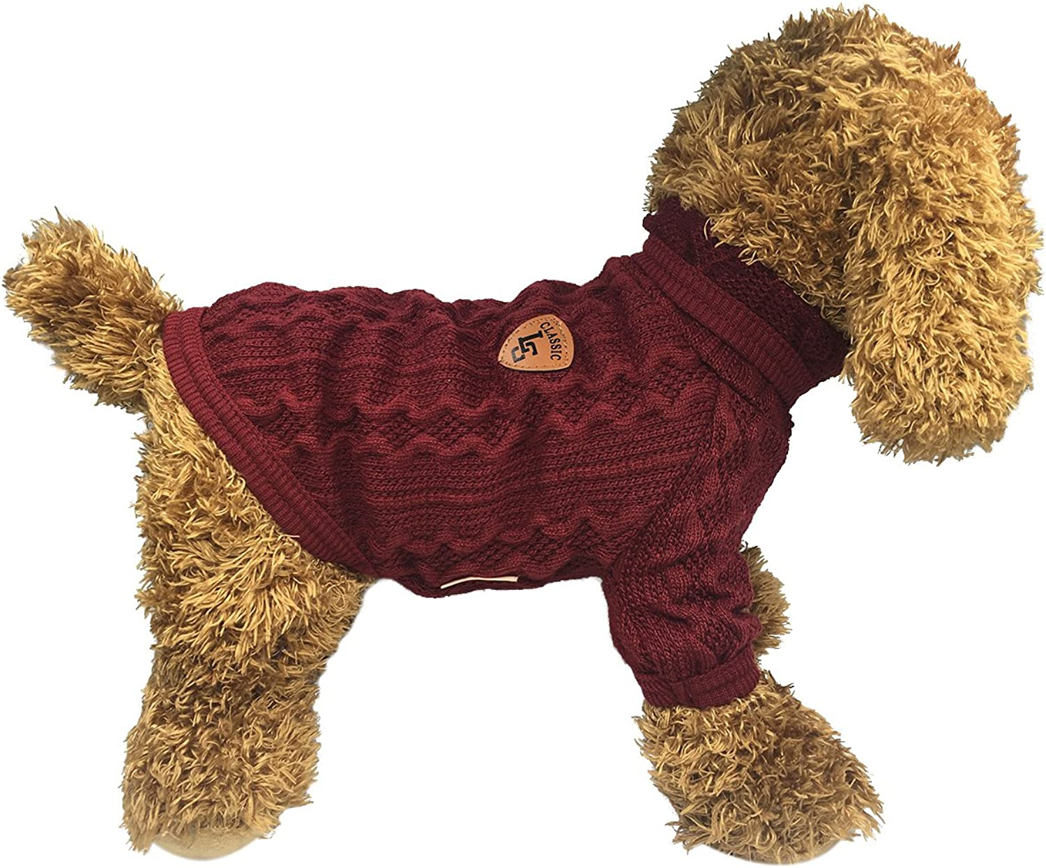 BONDOGLAND Pet Sweaters Small Dogs Cats Winter Coats Clothes,Red 9.8