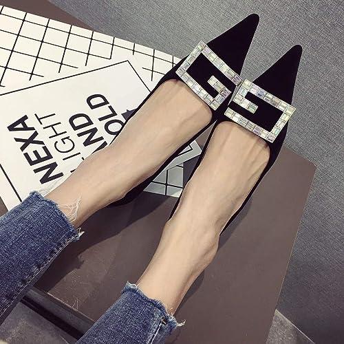 Yukun Schuhe mit hohen Absätzen Absätzen Absätzen Herbst Frauen Schuhe Hochhackige Frauen Fein Mit Spitzen Frauen Einzelne Schuhe Mit Bb Diamant Metallschnalle  schnelle Lieferung