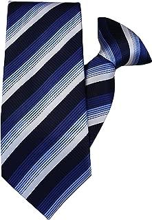 blu e grigio a righe con clip cravatta jh-1147 John Henry Marrone