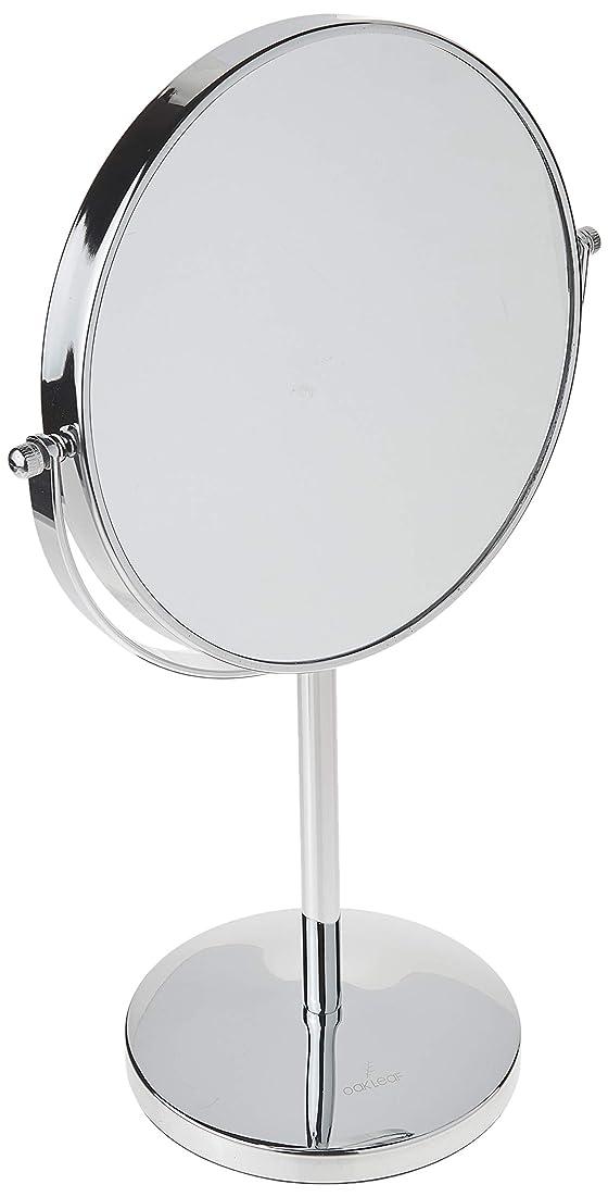 家事居心地の良い好奇心Oak Leaf 拡大化粧鏡両面 1x / 10倍 倍率卓上スイベルバニティミラー8インチ 10倍(8インチ)