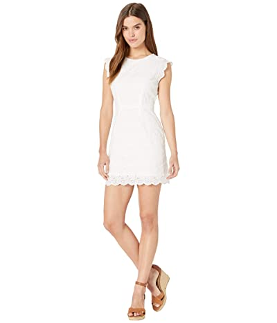 Cupcakes and Cashmere Keren Ruffle Sleeve Eyelet Dress (White) Women