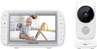 Motorola MBP 485 Baby Monitor with Camera 5 Inch Screen Temperature, Microphone, Zoom, Lullabies White