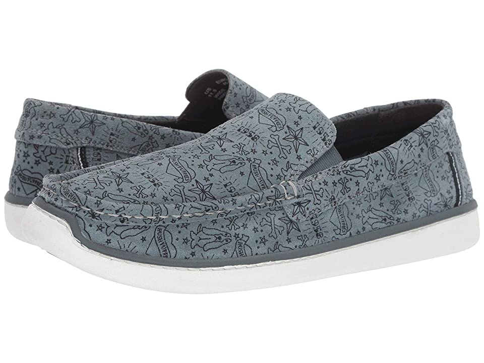 Hush Puppies Toby Venetian (Storm Print Suede) Men