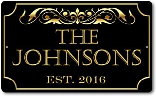 Personalized Family Name Established Year Custom Plaque 8