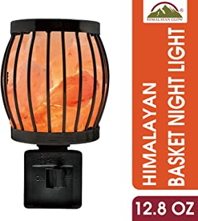 Himalayan Glow 1804 Natural Salt lamp, Framed Night light, Wall Plug in, 360 Rotatable by WBM