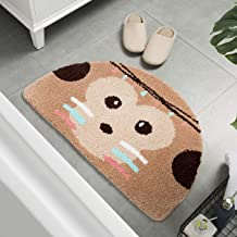 Ankah Shower Mat Bath Mat Cute Cartoon Picture Design Shower Rug Non-Slip Durable Wool Absorbent Bath Rug Semi-Circle Door...