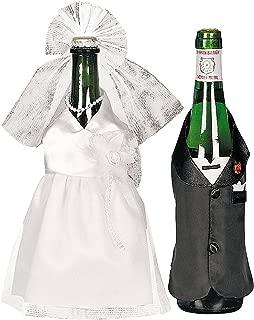 Oriental Trading Wedding Wine Bottle Cover Set Bride & Groom Cute