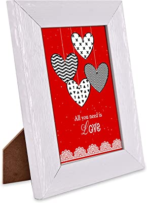 Love is Everywhere Quotation Photoframe & Red Heart Cushion Combo