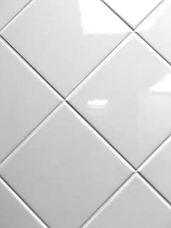 4x4 White Glossy Finish Ceramic Subway Tile Shower Walls Backsplashes (10SF Full Box 80PCS)