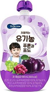BeBecook Organic Plum & Grape Juice, 100 ml