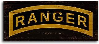 Adonis554Dan Army Ranger Wood Sign Print Wooden Plaque Handmade Decor Wall Art Signs