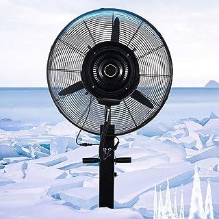 XFPINK Hoja Cuernos eléctricos Pedestal Piso Negro Refrigeración centrífuga Ventilador de pie Equipo Multifuncional Inicio Fábrica Altura Fija 71 / 81cm