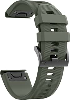 ANCOOL Compatible with Fenix 5/Fenix 5 Plus/Forerunner 935/Approach S60/Quatix 5 Band,Easy Fit 22mm Width Soft Silicone Wa...