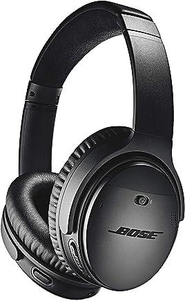 Bose QuietComfort 35 (Serie II) Auriculares inalámbricos, cancelación de ruido, con control de voz Alexa, color negro + 1 año de garantía extendida