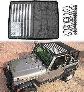 Sukemichi Jeep Wrangler TJ Durable Mesh Sunshade Bikini Top Cover Provide UV Protection for Wrangler TJ 1996-2007