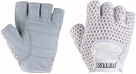 Medium Valeo GLCF Womens Crosstrainer Plus Gloves in Small Or Large Sizes That are Designed Specifically for Womens Hands with Double Leather Palms and Padded Palm and Index Finger