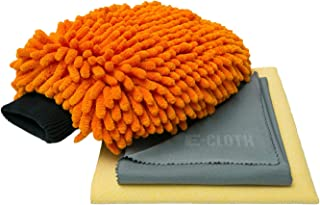 E-Cloth Car Cleaning Kit - Brilliant for Washing Drying Polishing - No-Scratches Streaks or Residue - Just Add Water