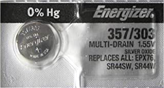 Energizer 357 / 303 SR44 AG13 Silver Oxide Watch Battery