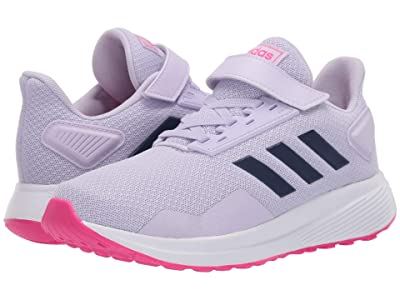 adidas Kids Duramo 9 (Little Kid) (Purple Tint/Tech Indigo/Shock Pink) Girl