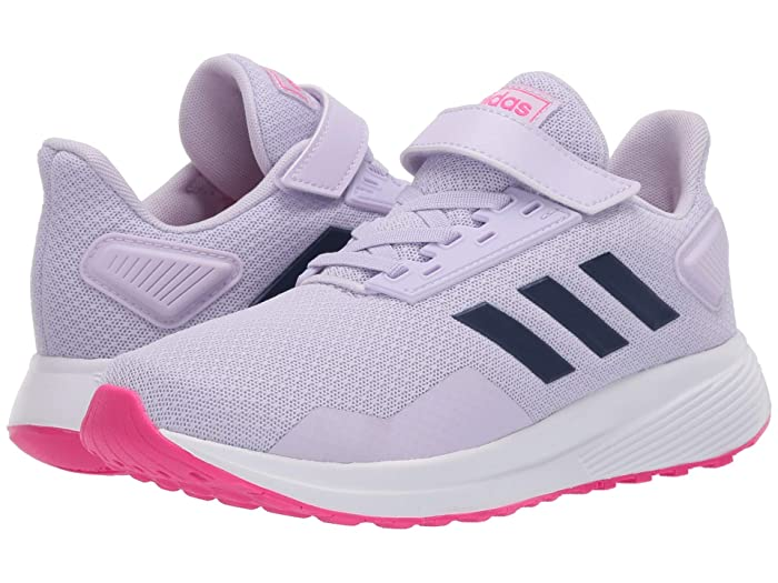adidas Kids  Duramo 9 (Little Kid) (Purple Tint/Tech Indigo/Shock Pink) Girls Shoes