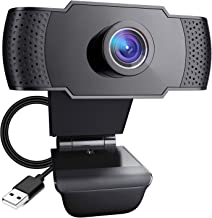 Pocut Webcam with Microphone, 1080P HD USB Webcam, 110° Widescreen Streaming Webcam, Plug and Play USB Webcam for PC Video...