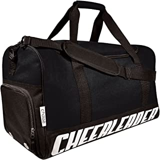 Girls' Travel Sport Bag With Cheerleader Imprint - Black