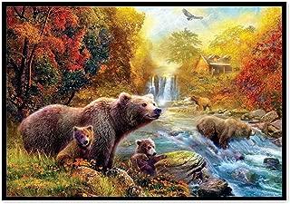 DIY 5D Diamond Painting Kit, Seaintheson Cute Bear Embroidery Rhinestone Part Round Stitch Arts Craft Canvas Home Wall Decor 38X30CM