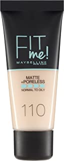 Maybelline New York Fit Me Matte & Poreless Face Foundation - 1.01 oz., 110 Porcelain