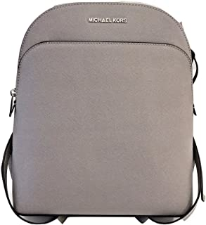 Michael Kors Emmy Large Backpack Leather Pearl Grey