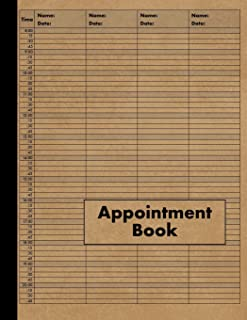 4 Column Appointment Book: Large 4 Column Schedule Book - 120 Pages 15 Minute Increments - Undated Four Column Notebook Planner