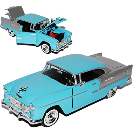 Motormax Chevrolet Chevy Bel Air 2400c Coupe Schwarz 1 Generation 1953 1957 1 18 Modell Auto Mit Individiuellem Wunschkennzeichen Spielzeug