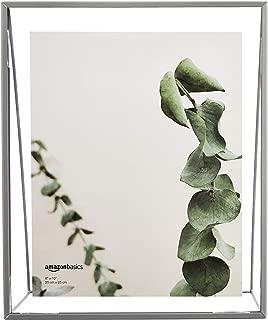 AmazonBasics Wedge Floating Photo Frame for 8 x 10 Inch Photos - Slim Frame, Nickel