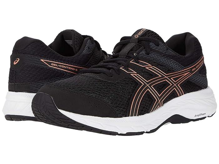 ASICS  GEL-Contend 6 (Black/Rose Gold) Womens Running Shoes