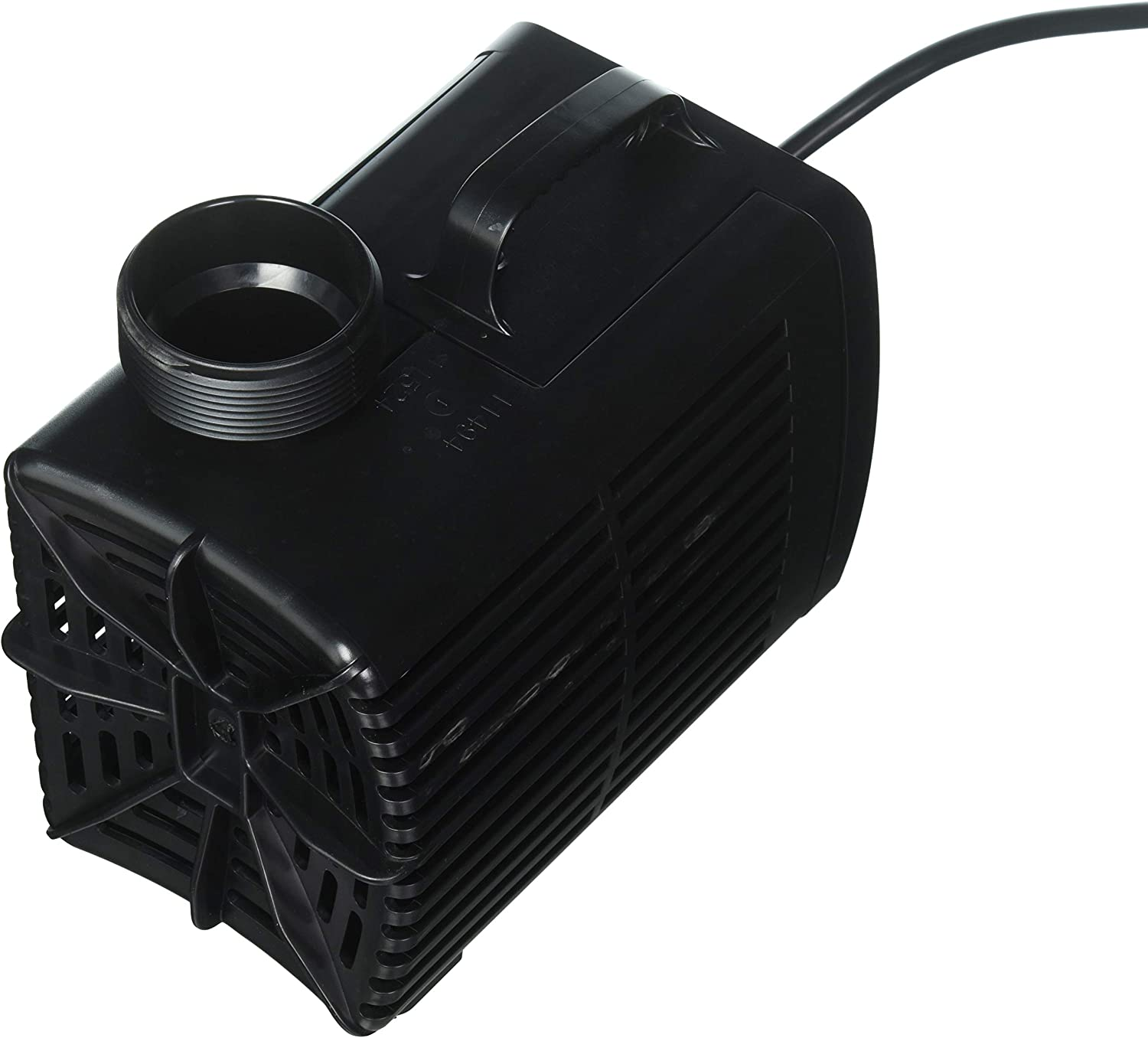 Beckett Corporation 4700 GPH Submersible Waterfall Pond Pump - Auto Shutoff Water Pump for Large Waterfalls - 18.5' Max Fountain Height, Black