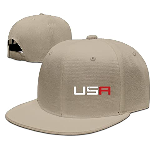 Mens Guys 2016 USA Ryder Cup Golf Logo Adjustable Flat-along Baseball Hat  Cap d303105785f