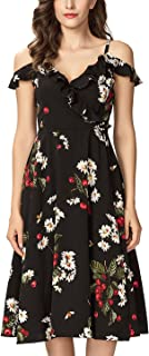 Best cold shoulder fit and flare midi dress Reviews
