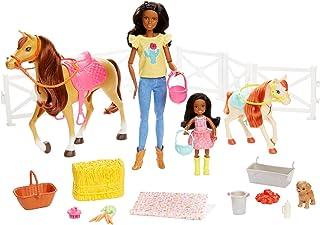 Mattel Barbie Hugs N Horses Playset, Brunette