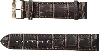 Leather Calfskin Brown Watch Strap, 21mm Width (Model: T600041276)