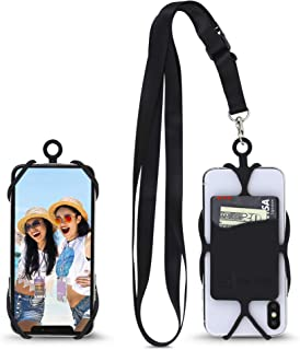 Gear Beast Universal Crossbody Pocket Cell Phone Lanyard Compatible with iPhone, Galaxy & Most Smartphones, Includes Phone Case Holder,Neck Strap