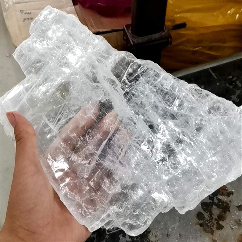 YELVQI 2kgs Sale price Natural Quartz Crystal Home Reiki Deco Slab Max 61% OFF Selenite