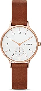 Women's Anita Brown Leather Watch SKW2658