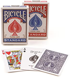 Bicycle Poker Size Standard Index Playing Cards (6-Pack) [Colors May Vary: Red Blue or Black]