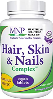 Michael's Naturopathic Programs Hair, Skin & Nails Complex - 60 Vegan Tablets - Contains Nutrients for The Skin and Connec...