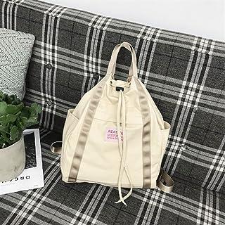 Leng QL Personality Backpacks Fashionable Canvas Stitching Traveling Rucksack Handbag Backpack(Large Size)
